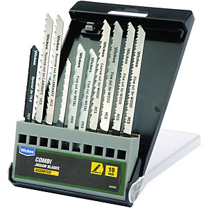 Wickes Assorted Universal Shank Jigsaw Blade - Pack Of 10
