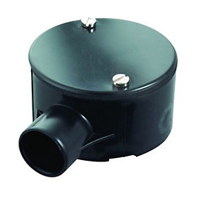 Wickes 1 Way Terminal Junction Box - Black 25mm