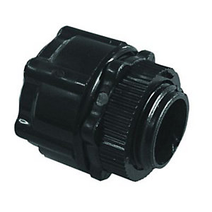 Wickes Corrugated Conduit Adaptor - Black 20mm Pack of 2
