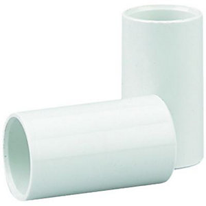 Wickes Straight Conduit Coupling - White 20mm Pack of 4