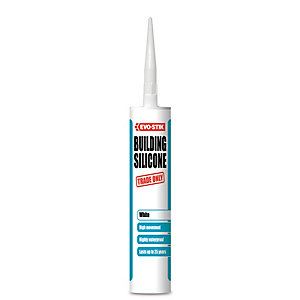 Evo-Stik Building Silicone Sealant - White 280ml