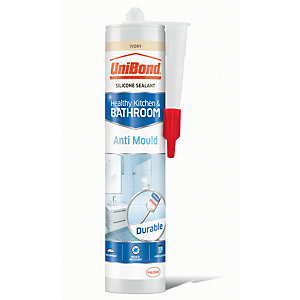 UniBond Anti-Mould Kitchen and BathroomSilicone Sealant - Ivory 300ml