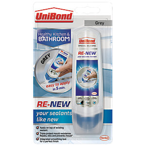 UniBond RE-NEW Silicone Sealant - Grey 100ml