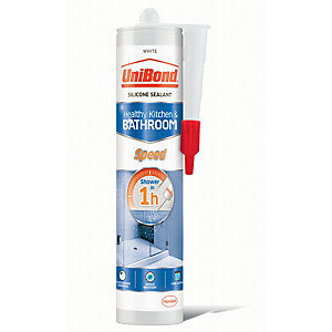 UniBond Speed Anti Mould Silcone Sealant - White 300ml
