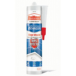 UniBond Triple Protect Anti Mould Silicone Sealant - White 300ml