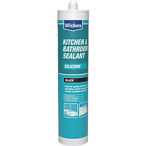 Wickes Kitchen & Bathroom Silicone Sealant - Black 310ml