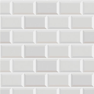 Graham & Brown Contour Metro White Decorative Wallpaper - 10m