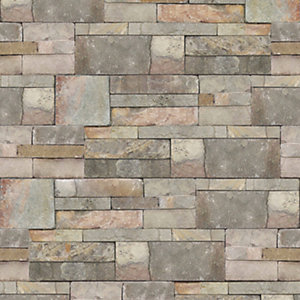 Graham & Brown Contour Natural Sandstone Decorative Wallpaper - 10m