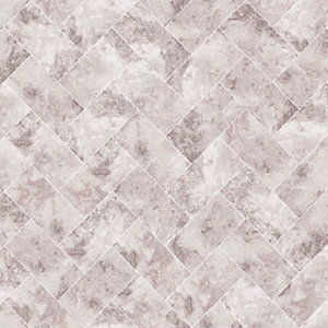 Graham & Brown Contour Travertino Taupe Decorative Wallpaper - 10m