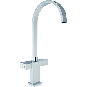Wickes Akola Monobloc Mixer Kitchen Sink Tap - Chrome