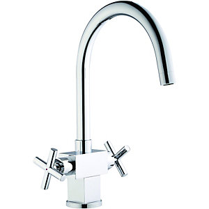 Wickes Aquintas Monobloc Mixer Kitchen Sink Tap - Chrome
