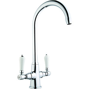Zores Monobloc Chrome Tap - High & Low pressure