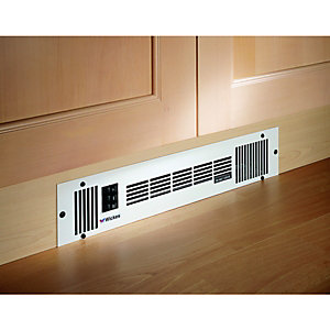 Wickes Central Heating Stainless Steel Plinth Heater - 1.6kW