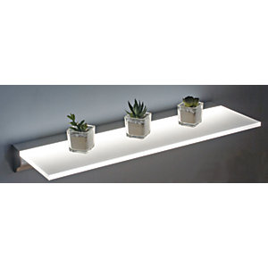 Wickes 600mm White LED Shelf - 10W