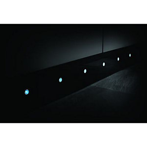 Wickes Accent Blue Stainless Steel LED Plinth Light Kit 2W - Pack of 10