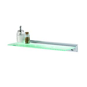 Wickes Galaxy LED CW Illuminated Shelf 600mm