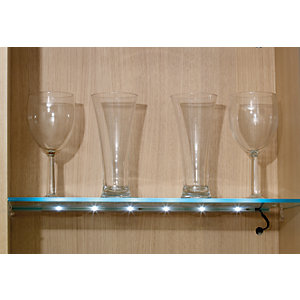 Wickes LED Glass Shelf Natural Clip Light - 0.8W