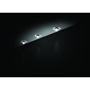 Wickes Vetus Chrome Cabinet Display LED Light Kit 3W - Pack of 3