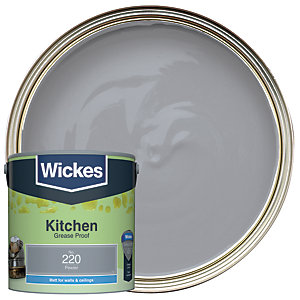 Wickes Pewter - No. 220 Kitchen Matt Emulsion Paint - 2.5L