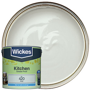 Wickes Putty - No. 420 Kitchen Matt Emulsion Paint - 2.5L