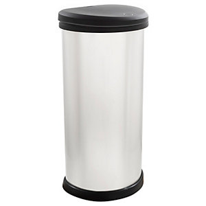 Curver 40 Litre Metallic Effect Touch Top Deco Bin
