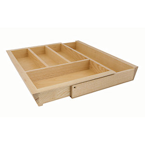 Extendable Cutlery Tray 450-600mm Ash