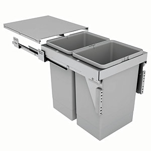 Stanto 40 Waste Bin for 400mm Base Unit 2 x 24L Bins