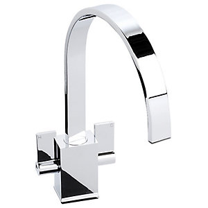 Abode Contemporary Atik Monobloc Kitchen Mixer Tap - Chrome