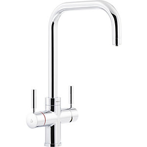 Abode Protex 3 in   1 Steaming Water Monobloc Sink Tap - Chrome