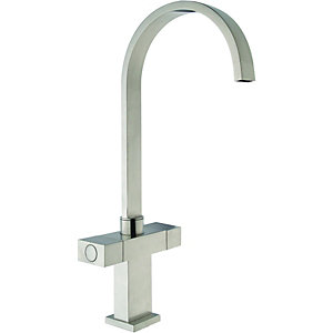 Wickes Akola Monobloc Mixer Brushed Kitchen Mixer Sink Tap