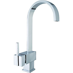 Wickes Callis Single Lever Kitchen Mixer Sink Tap Chrome