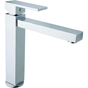 Wickes Clear Monobloc Kitchen Sink Mixer Tap - Chrome