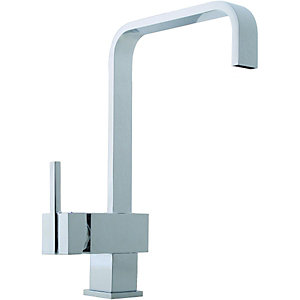 Wickes Curve Monobloc Kitchen Sink Mixer Tap - Chrome