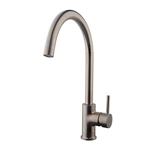 Wickes Fiora Monobloc Kitchen Sink Mixer Tap - Brushed Nickel