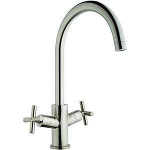 Wickes Kiami Monobloc Brushed Kitchen Sink Mixer Tap