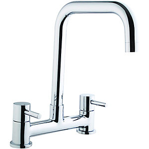 Wickes Seattle Bridge Kitchen Sink Mixer Tap - Chrome