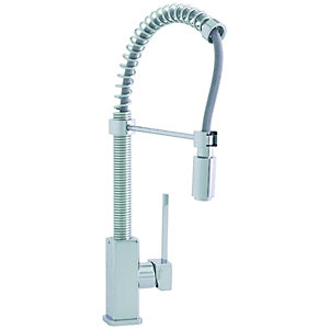Wickes Silicia Pull Out Chrome Tap - High Pressure