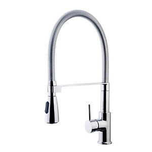Wickes Simeto Monobloc Pull Out Kitchen Sink Mixer Tap - Chrome