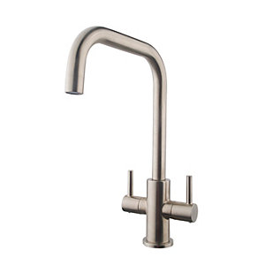 Wickes Vittoria Monobloc Kitchen Sink Mixer Tap - Brushed Nickel