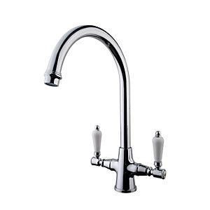 Wickes Zores Monobloc Kitchen Sink Mixer Tap - Chrome