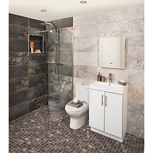 Wickes Aspen Silver Grey Porcelain Tile 598 x 298mm