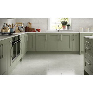 Wickes Azzara Grey Ceramic Wall & Floor Tile 600 x 300mm