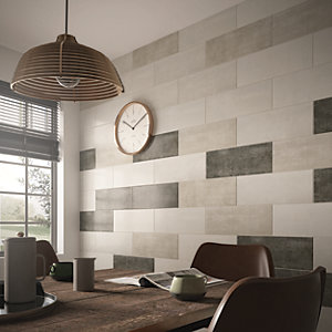 Wickes Brooklyn Cement Grey Ceramic Tile 500 x 200mm
