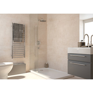 Wickes City Stone Beige Ceramic Tile 600 x 300mm