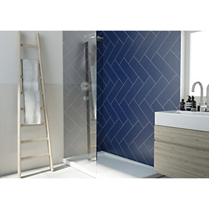 Wickes Dawn Cobalt Ceramic Tile 400 x 150mm