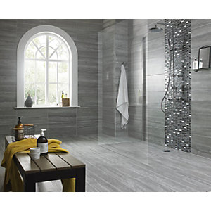 Wickes Everest Slate Porcelain Tile 600 X 300mm