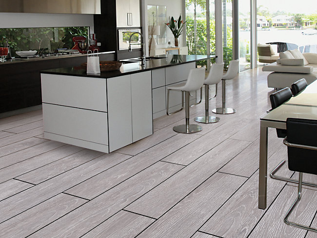 Kielder Light Grey Wood Effect Porcelain Tile