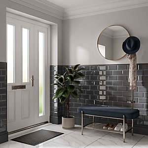 Wickes Metro Grey Ceramic Wall Tile 200 x 100mm