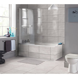 Wickes Replica Wave Grey Ceramic Tile 498 x 298mm