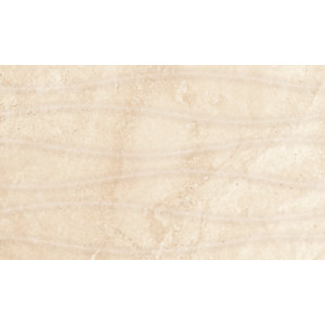 Wickes Replica Wave Ivory Ceramic Tile 498 x 298mm